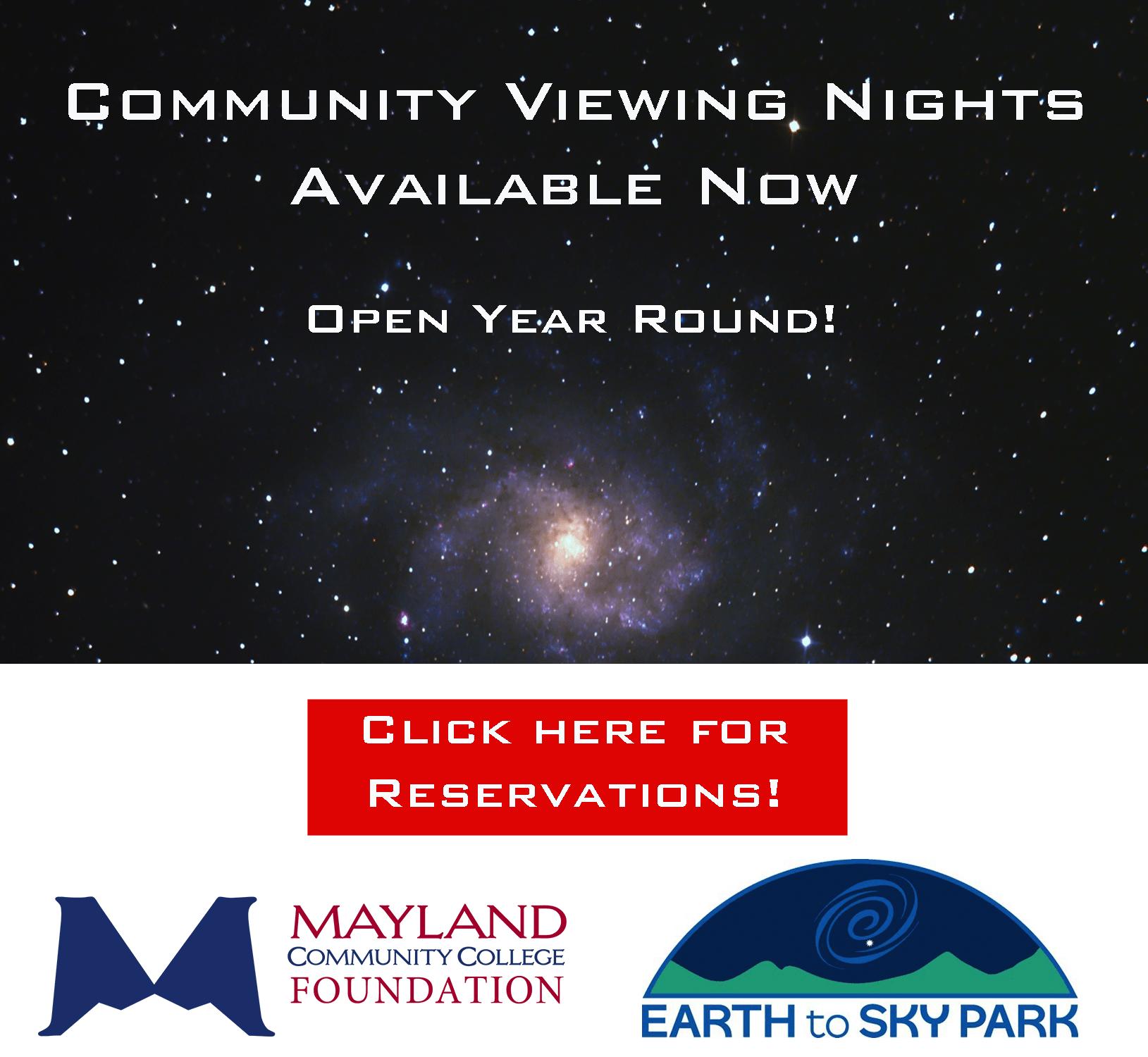 Community Viewing Nights Marketing Slide