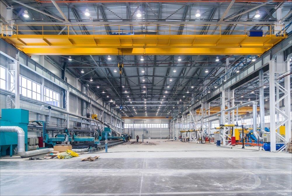 Concrete floor in steel factory