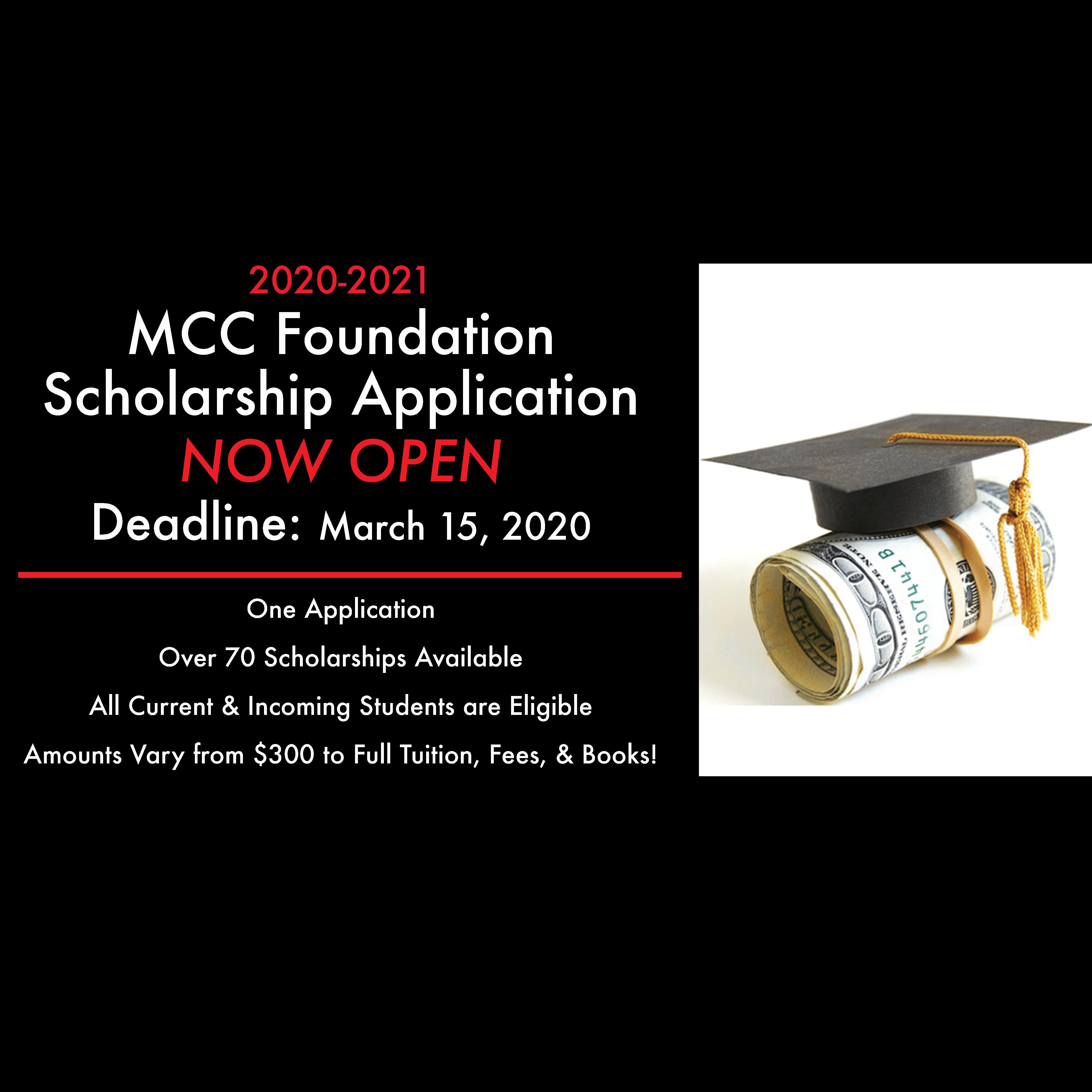MCC Foundation Scholarship Application slider